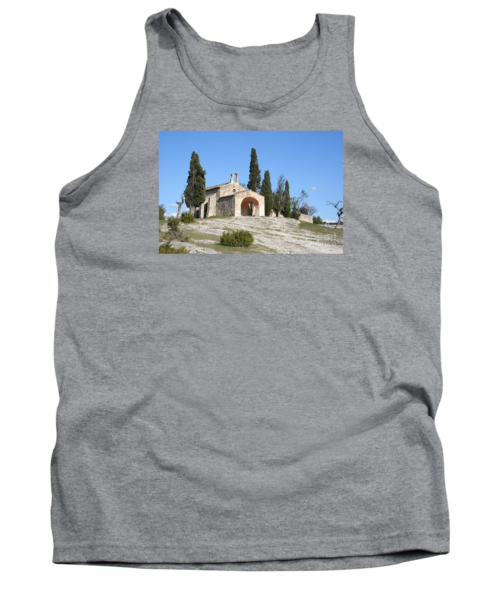 Chapel Tank Top featuring the photograph Saint Sixte An Old Chapel by Christiane Schulze Art And Photography