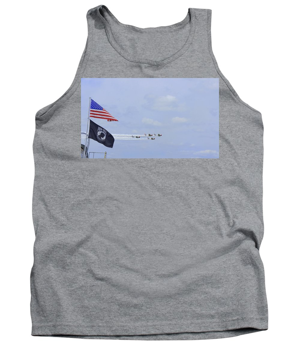 Sun N Fun 2014 Tank Top featuring the photograph Salute by Laurie Perry