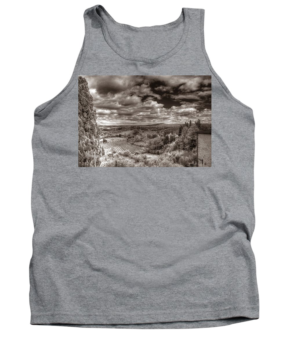 Tuscany Tank Top featuring the photograph San Gimignano View by Michael Kirk