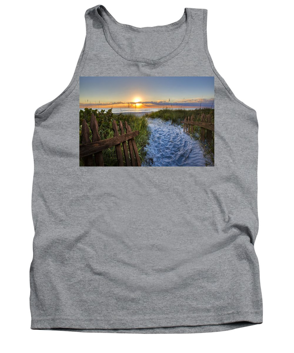 Clouds Tank Top featuring the photograph Sandy Trail by Debra and Dave Vanderlaan