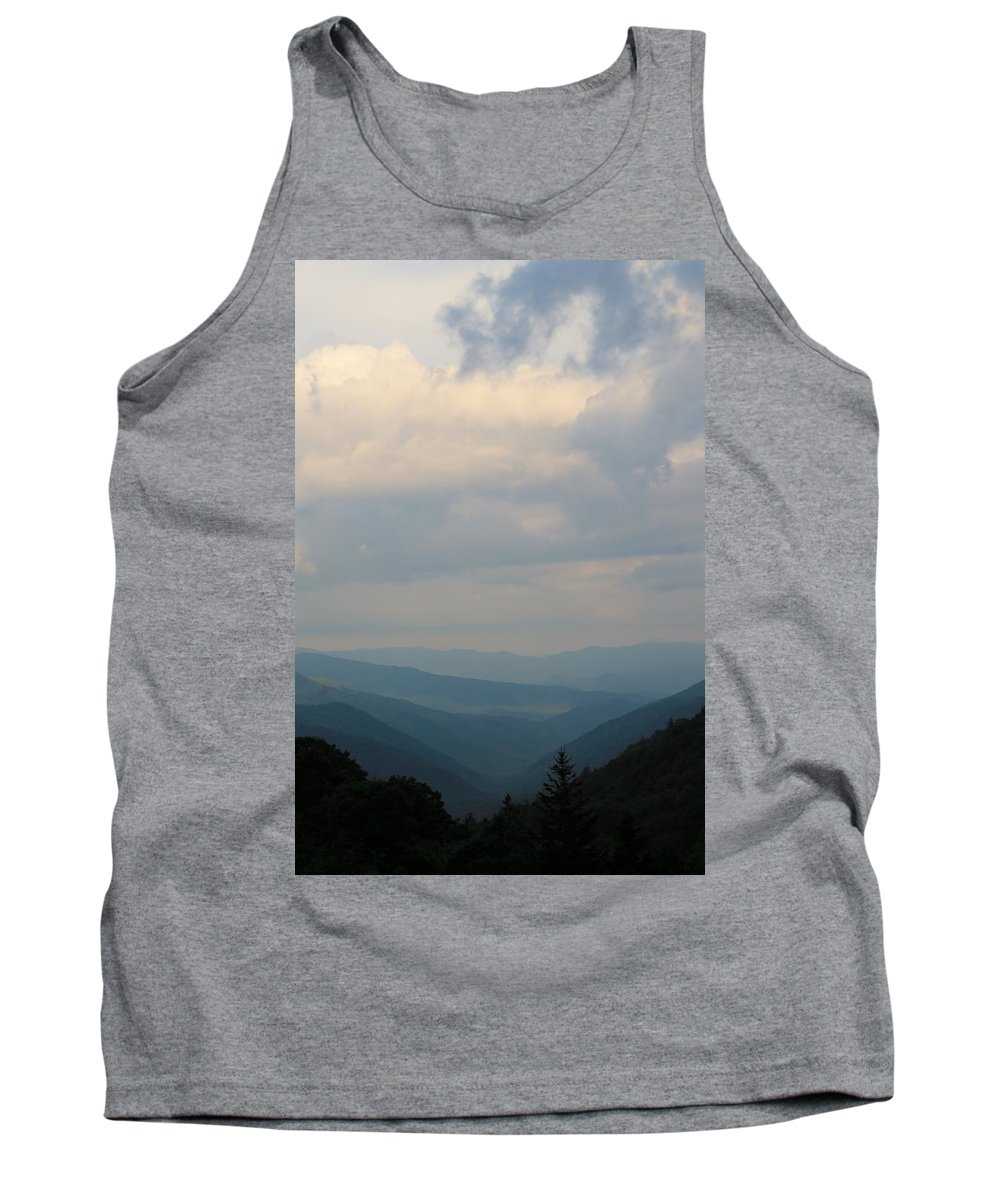 Scenic Tank Top featuring the photograph Scenic Smoky Mountains by Mary Koval