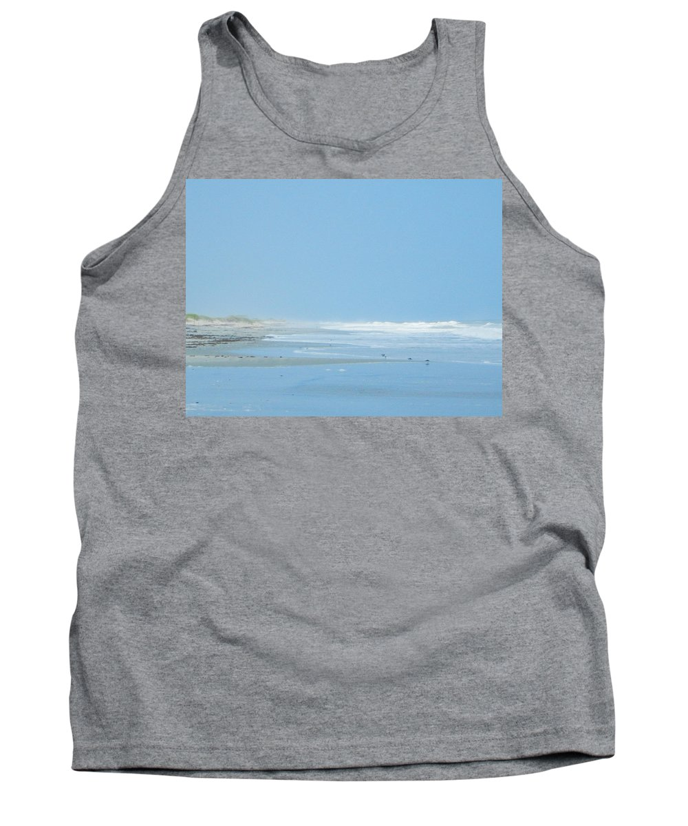 Long Point Cabins Tank Top featuring the photograph Sea Mist by Paula OMalley