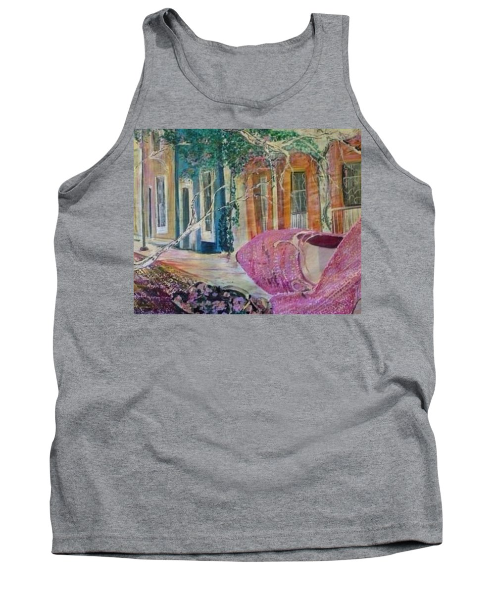 Shoes Tank Top featuring the painting Searching by Peggy Blood