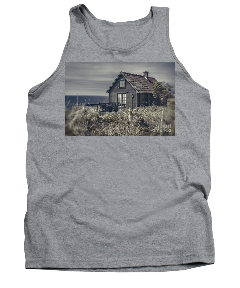 Sweden Tank Top featuring the photograph Seaside Cottage At Dusk by Sophie McAulay