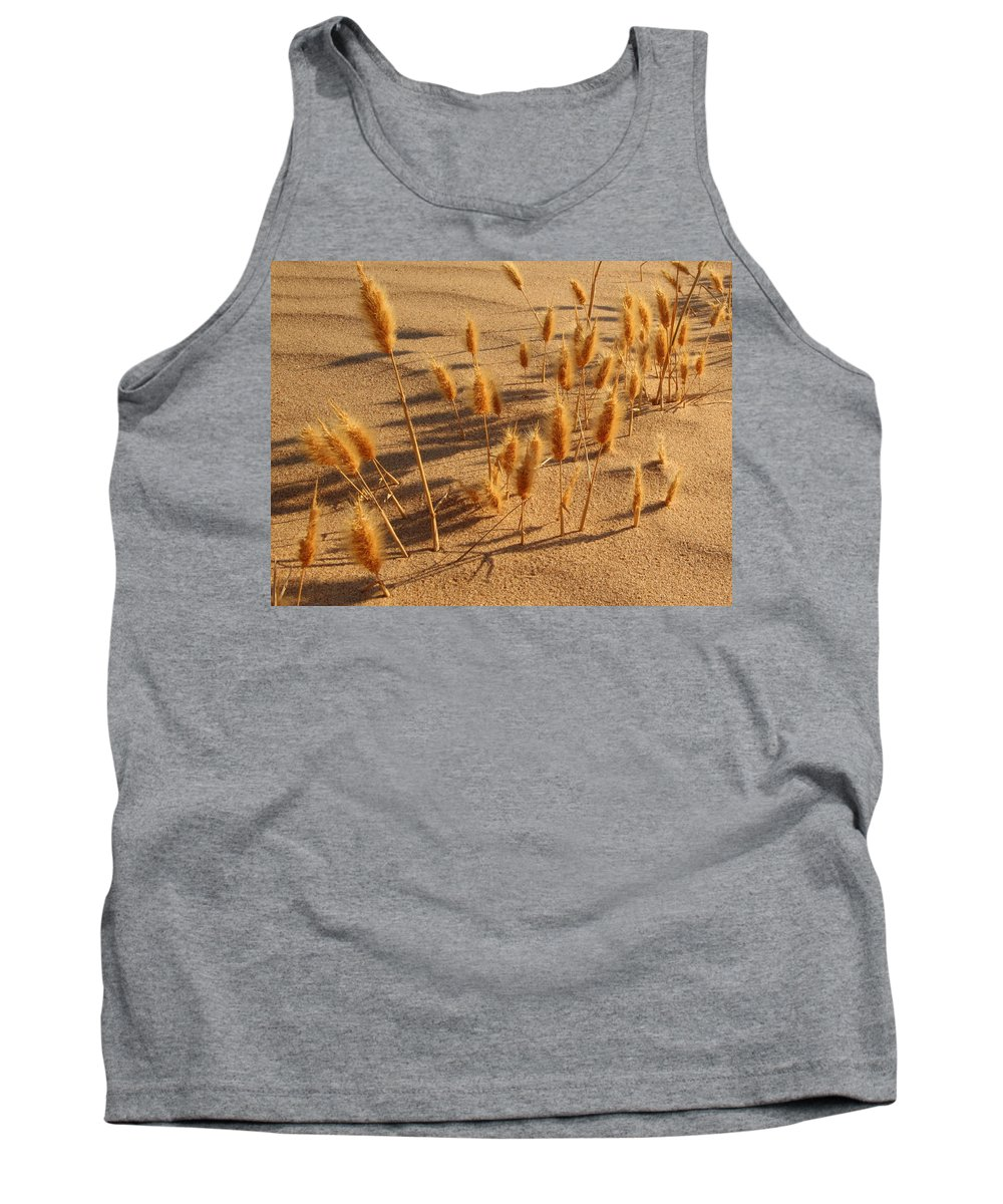 Brazos River Tank Top featuring the photograph Seed And Sand by Andrew McInnes