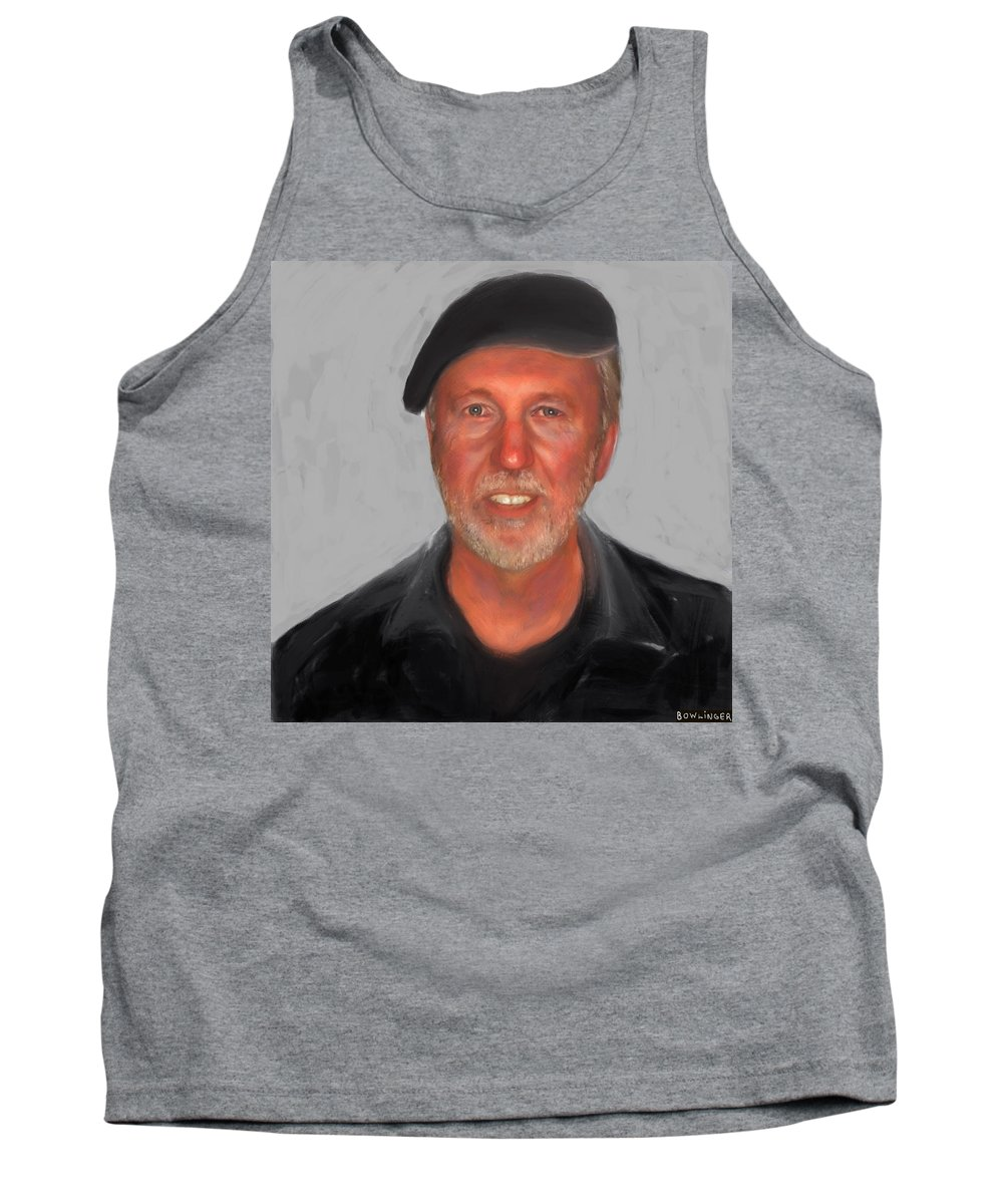 Figure Tank Top featuring the painting Self Portrait by Scott Bowlinger