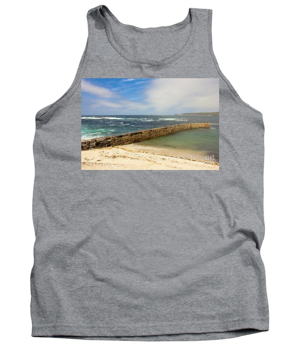 Sennen Cove Cornwall Tank Top featuring the photograph Sennen Cove Cornwall by Terri Waters