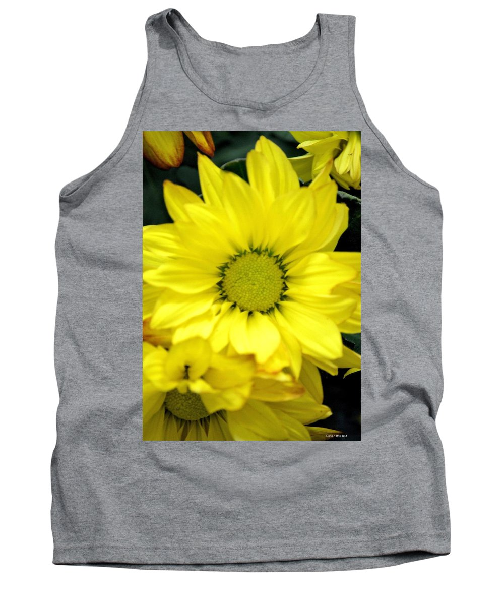 September Yellow Tank Top featuring the photograph September Yellow by Maria Urso