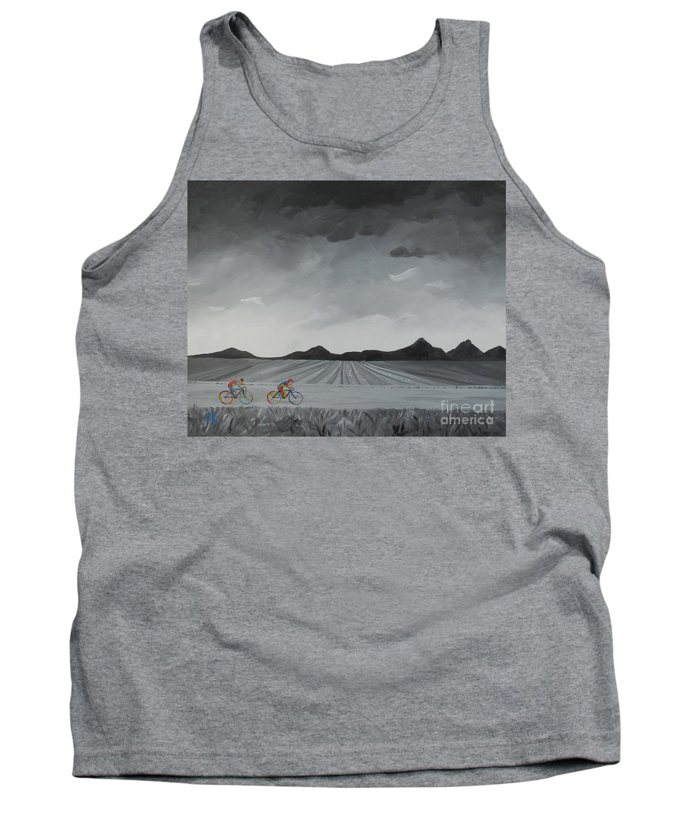 Cycle Tank Top featuring the painting Serentity by David Keenan