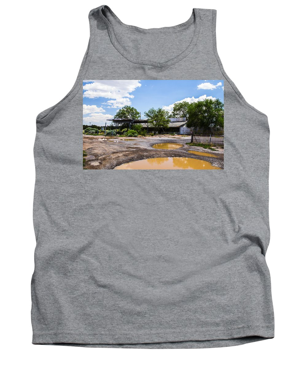 Route 66 Tank Top featuring the photograph Service Station by Angus Hooper Iii