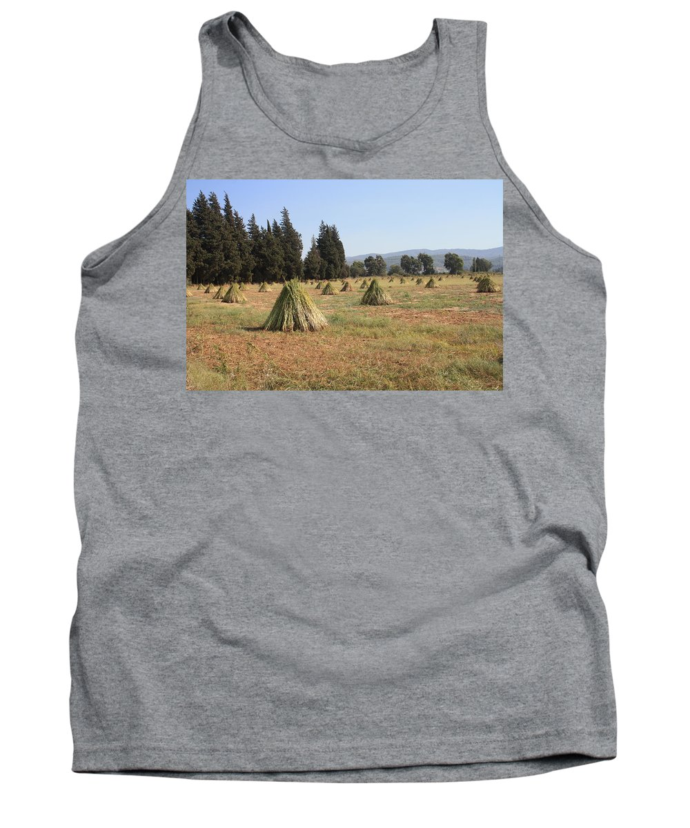 Sesame Tank Top featuring the photograph Sesame Harvest by Taiche Acrylic Art
