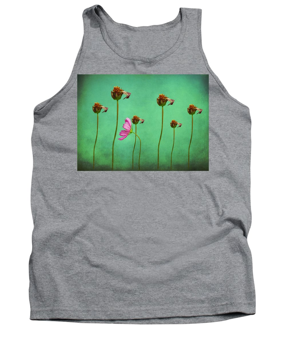 Seven Stems Tank Top featuring the digital art Seven Stems by David Dehner