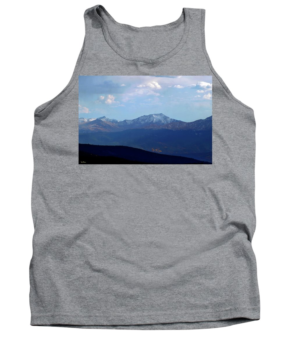14'ers Tank Top featuring the photograph Shadow Of Harvard by Jeremy Rhoades