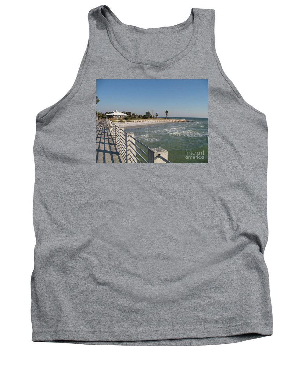 Pier Tank Top featuring the photograph Shadow On The Pier by Christiane Schulze Art And Photography