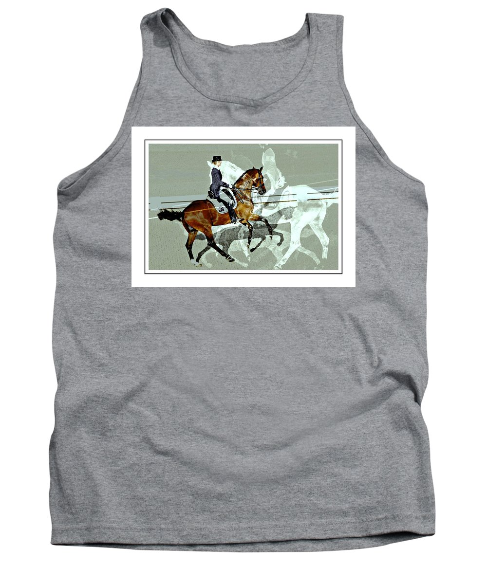 Horse Show View Tank Top featuring the photograph Shadows Of Shadows by Alice Gipson