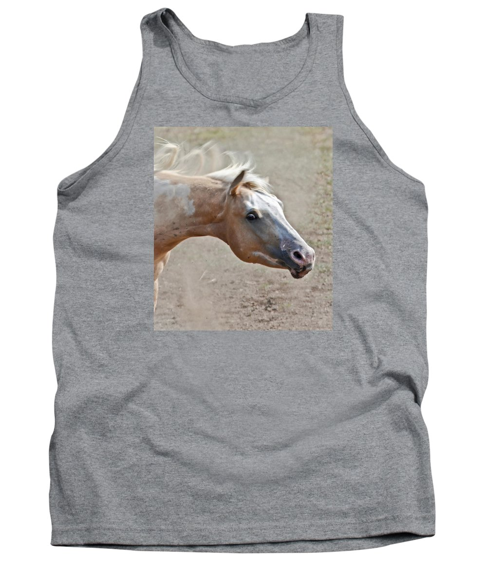 Horses Tank Top featuring the photograph Shake It Loose Baby by Athena Mckinzie