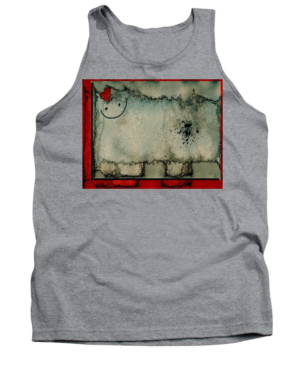 Sheep Tank Top featuring the digital art Sheep Or Not So - Bb06 by Variance Collections