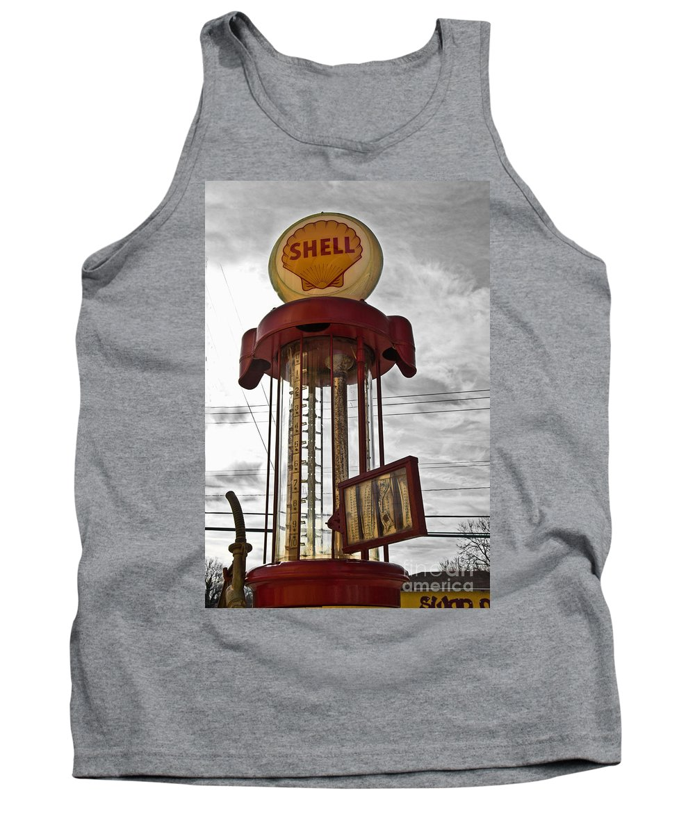 Invisible Tank Top featuring the photograph Shell Invisible Pump Color by Tom Gari Gallery-Three-Photography