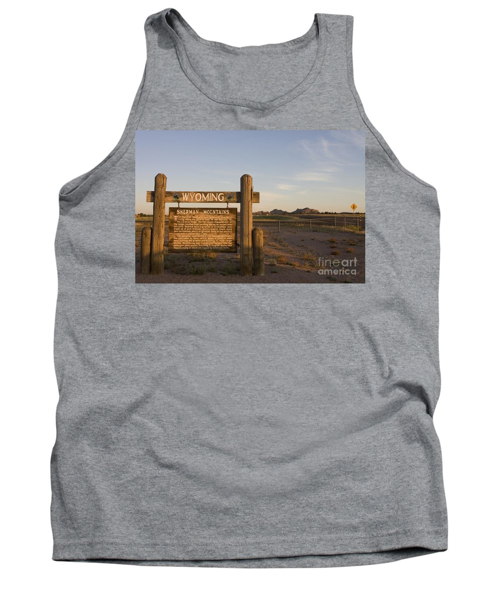 Wyoming Tank Top featuring the photograph Sherman Mountains Wyoming by Jason O Watson