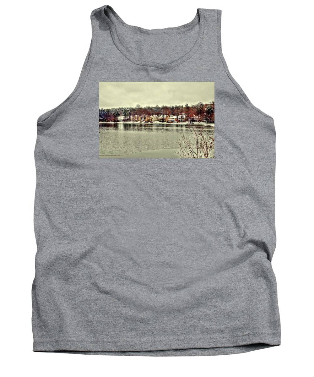 Winter Tank Top featuring the photograph Lake Lochmere by Raleigh Art Gallery