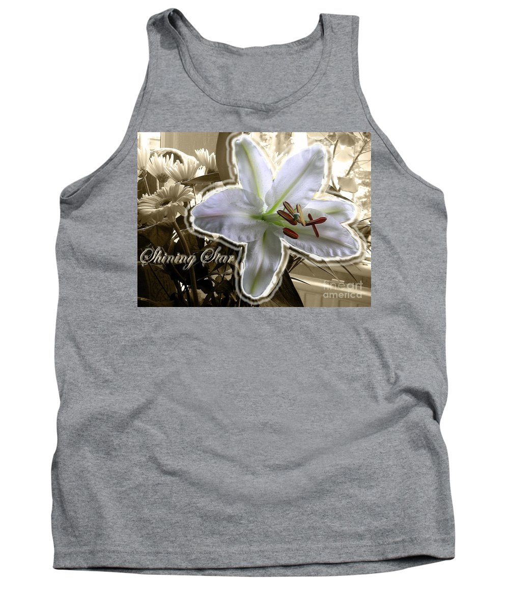 Lily Tank Top featuring the photograph Shining Star by Joan-Violet Stretch