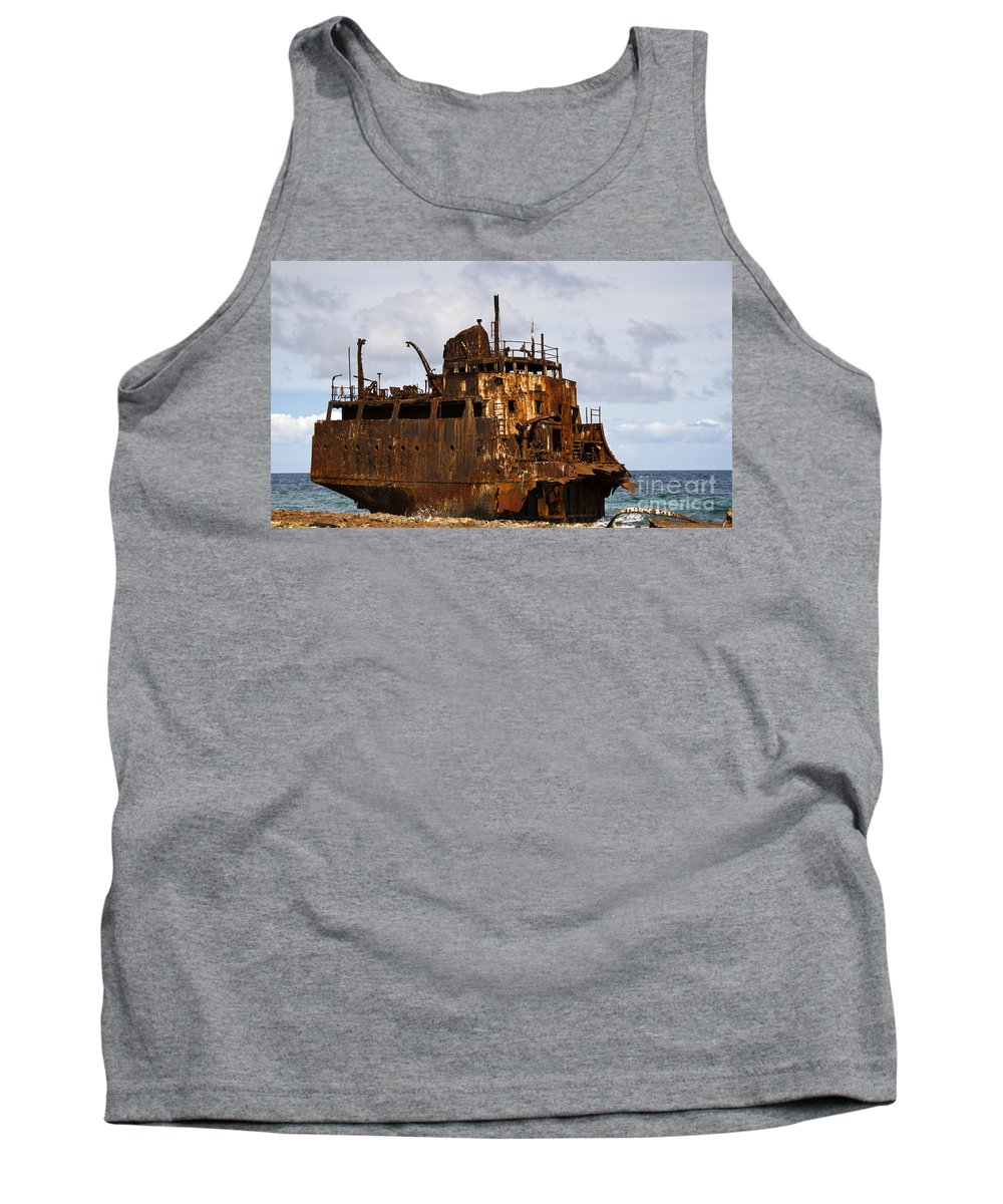 Ship Ashore Photographs Tank Top featuring the photograph Ship Ashore by David Millenheft