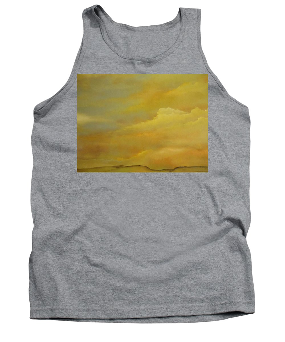 Abstract Tank Top featuring the painting Silence Of Summer by Lord Frederick Lyle Morris