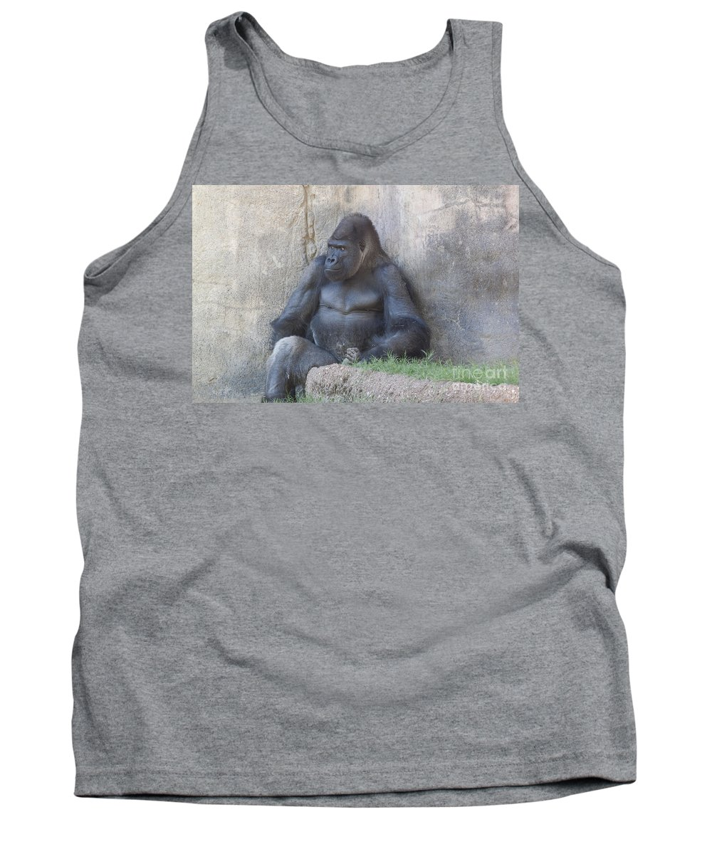 Animal Tank Top featuring the photograph Silver-back Plots Revenge by Robert Frederick
