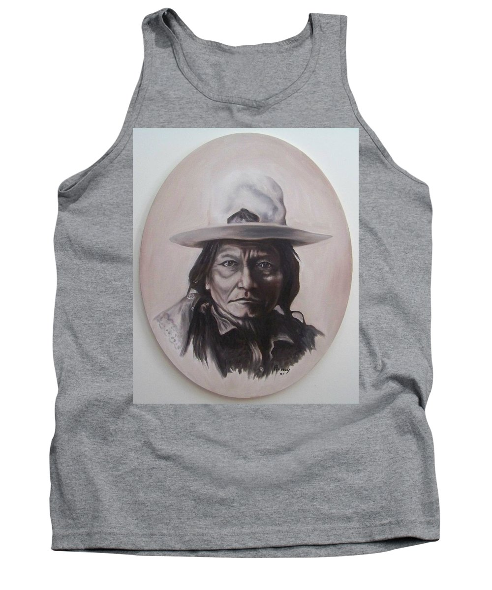 Michael Tank Top featuring the painting Sitting Bull by Michael TMAD Finney