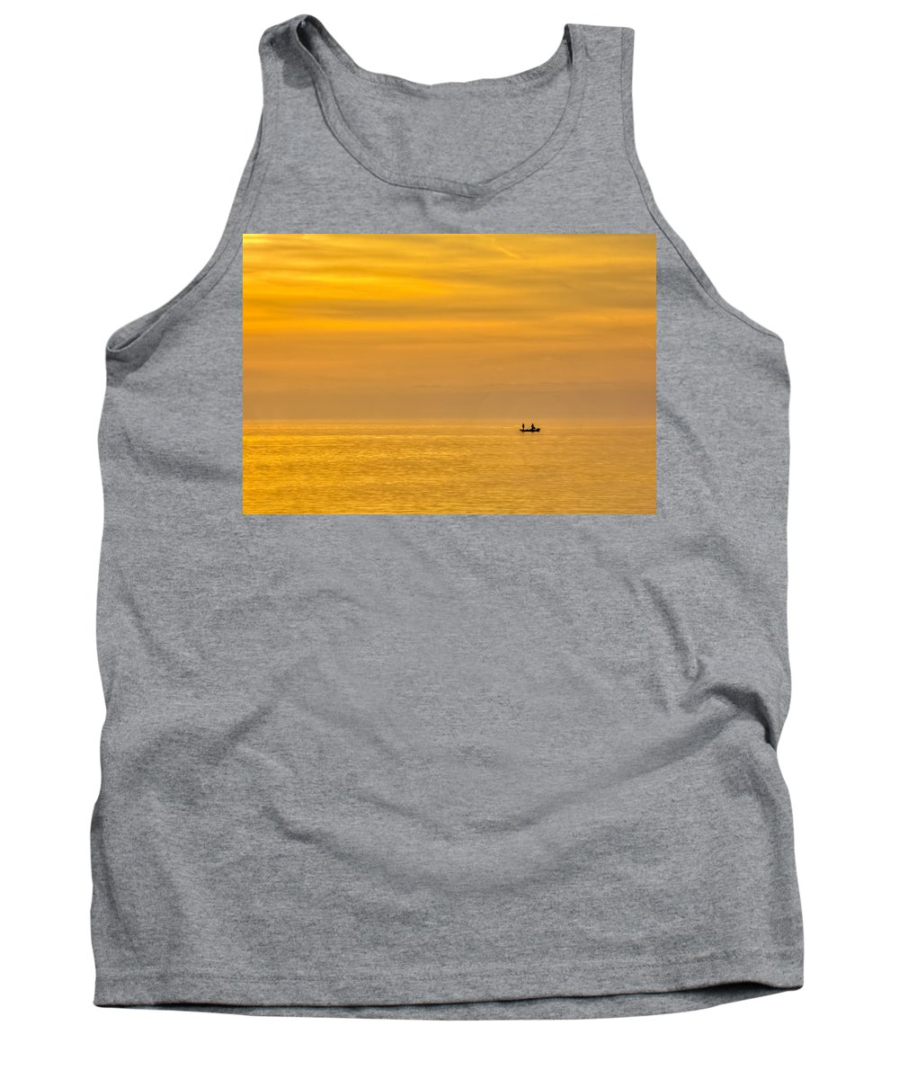 Gulf Of Mexico Tank Top featuring the photograph Sky And Water by Marvin Spates