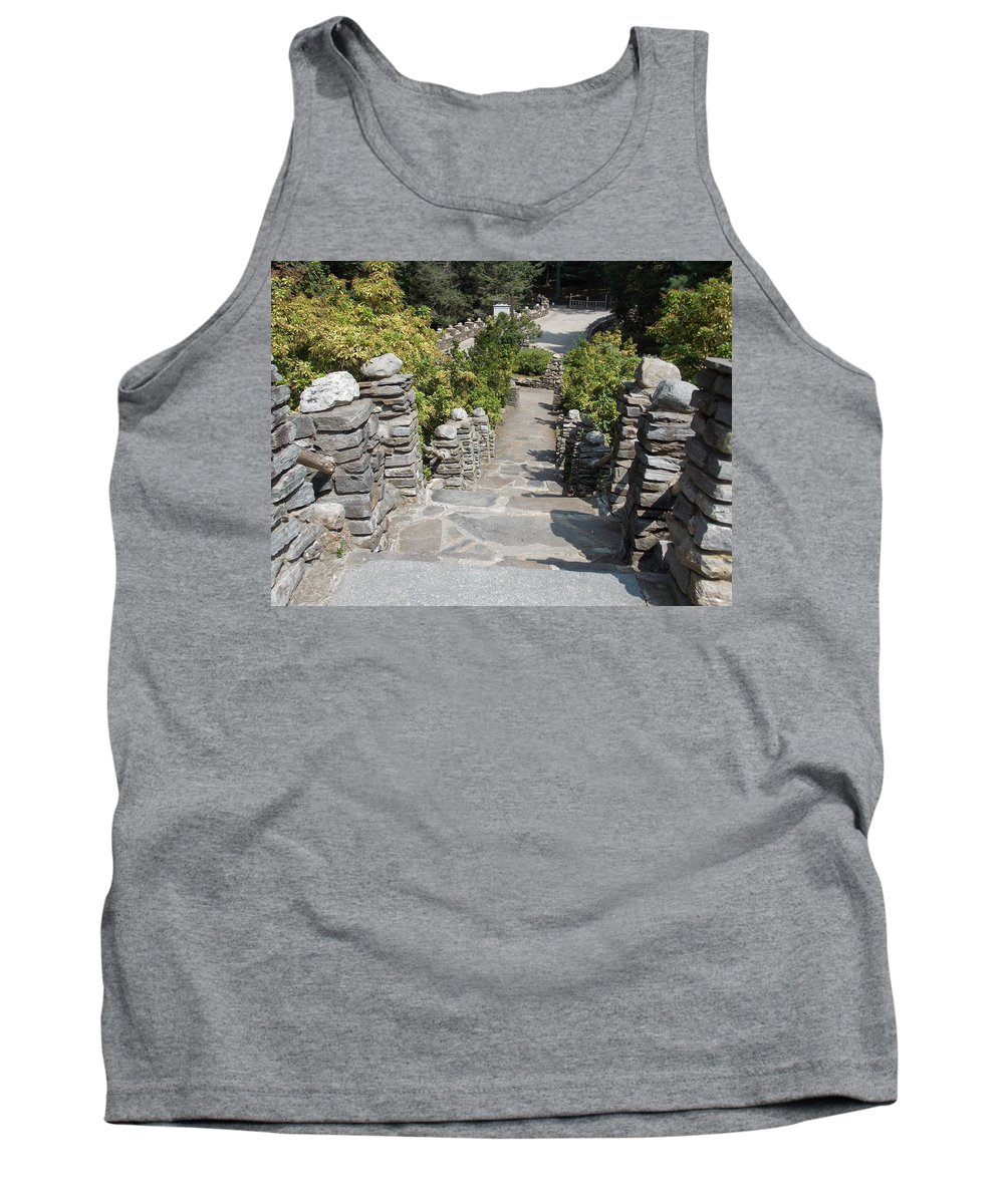Slate Tank Top featuring the photograph Slate Steps by Catherine Gagne
