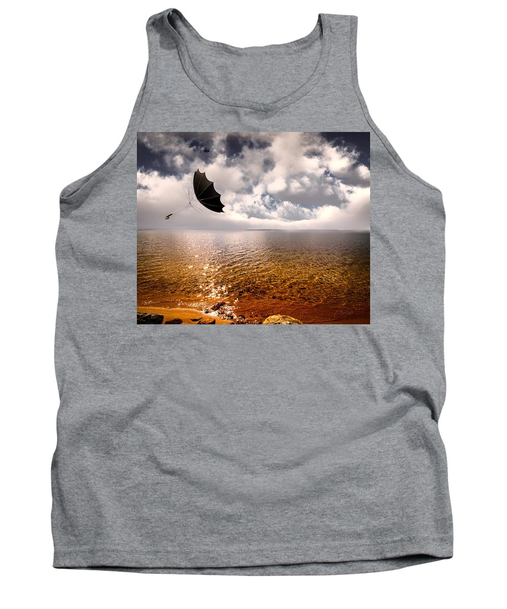 Umbrella Tank Top featuring the photograph Slight Chance Of A Breeze by Bob Orsillo