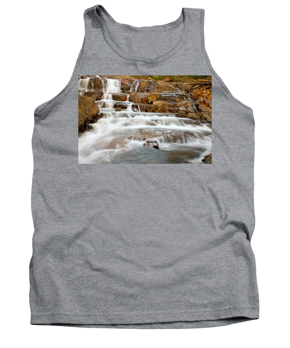 Water Fall Tank Top featuring the photograph Slippery When Wet by Donna Blackhall