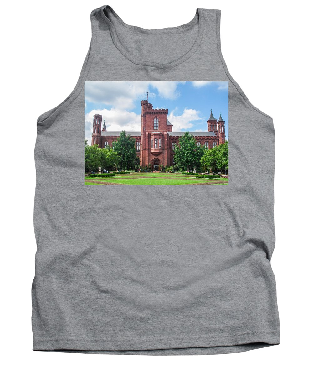 Smithsonian Tank Top featuring the photograph Smithsonian Castle by J Allen