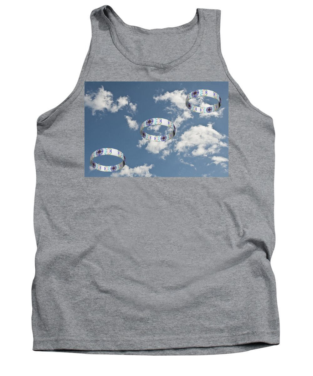 Smoking Trails Tank Top featuring the photograph Smoke Rings In The Sky 2 by Steve Purnell