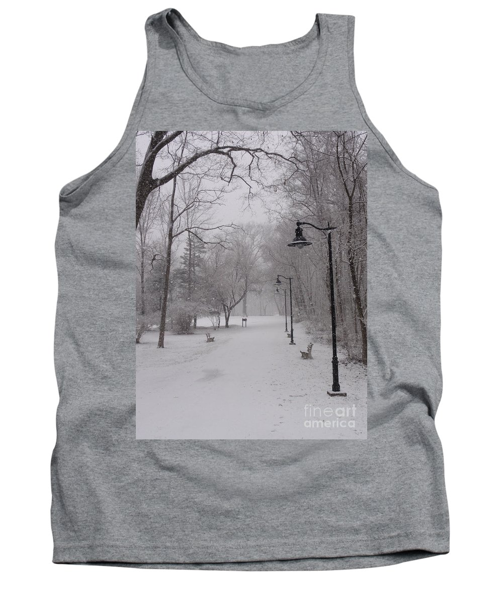 Bridge Tank Top featuring the photograph Snow At Bulls Island - 29 by Christopher Plummer