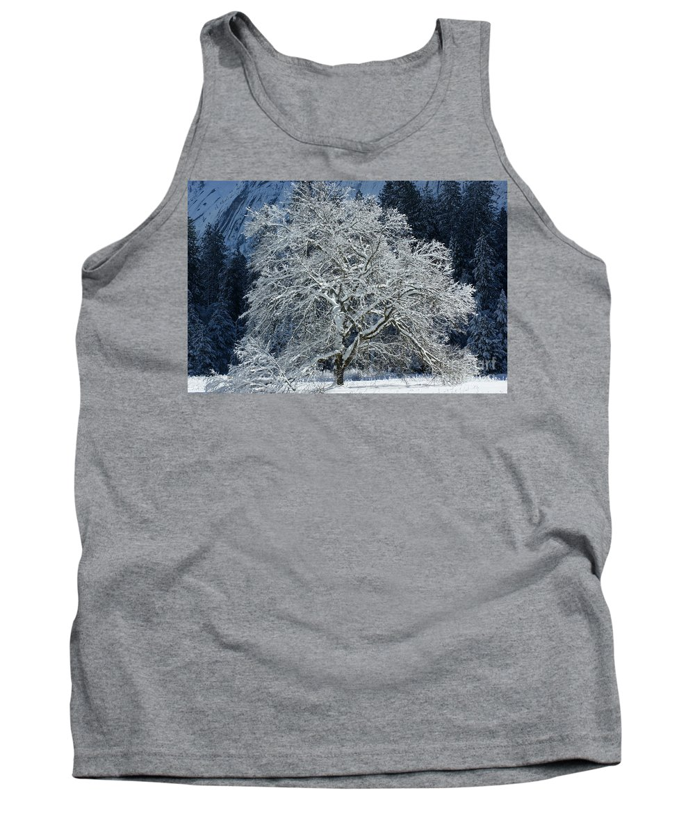 Snow Tank Top featuring the photograph Snow Covered Winter by Christine Jepsen