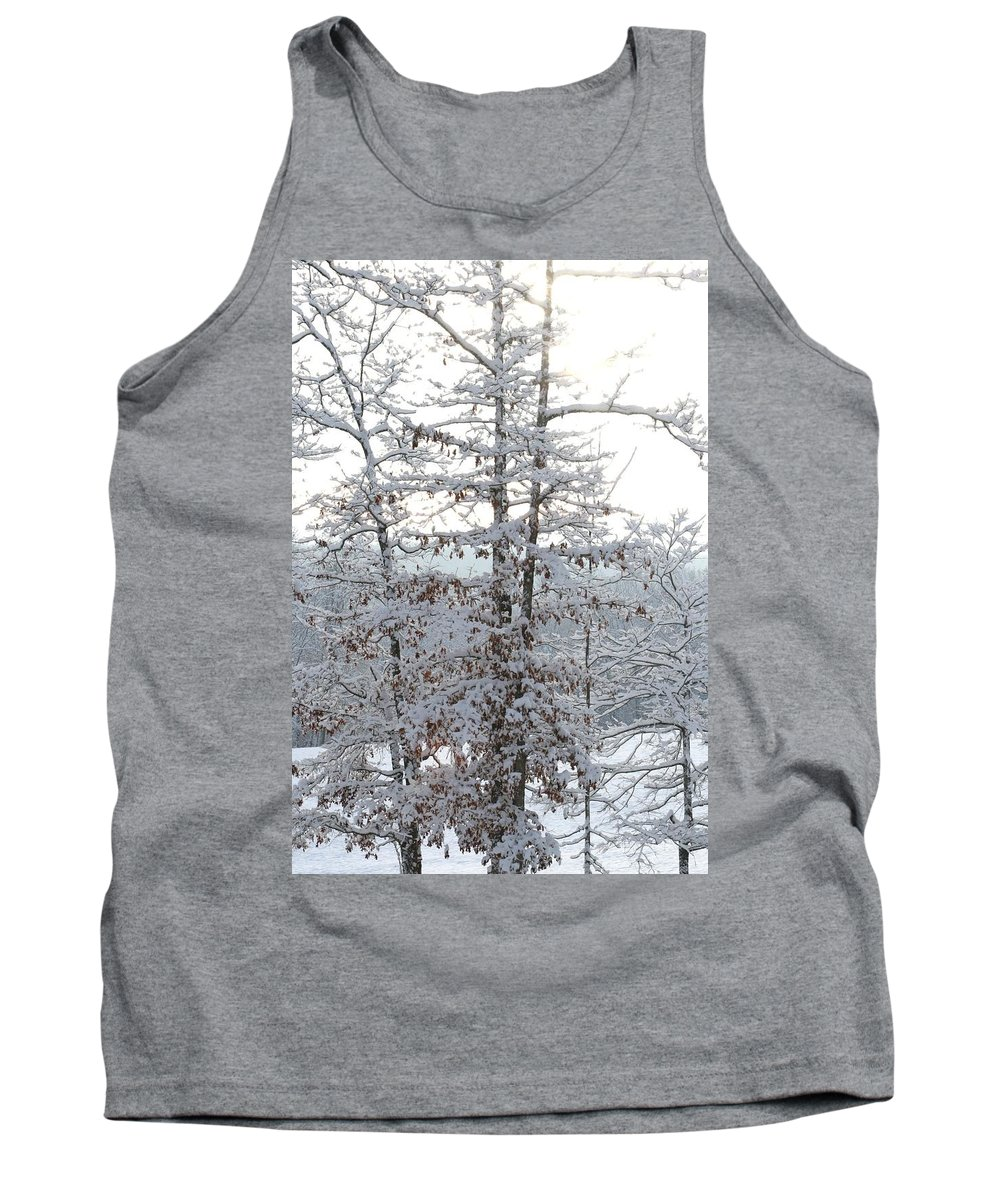 Snow Day Tank Top featuring the photograph Snow Day V by Cody Cookston