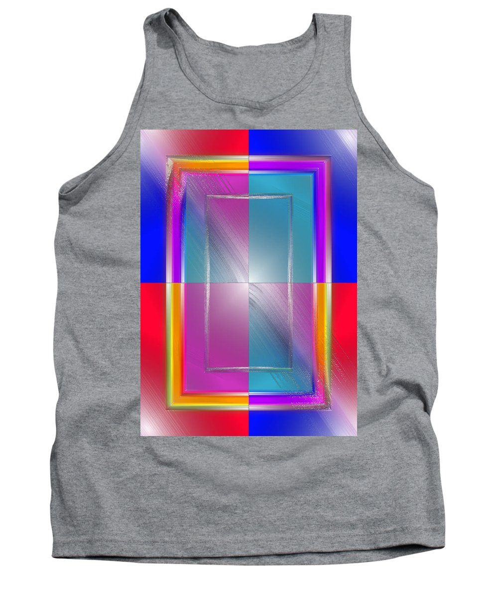Pop Tank Top featuring the digital art Soft Wobbling by Del Gaizo