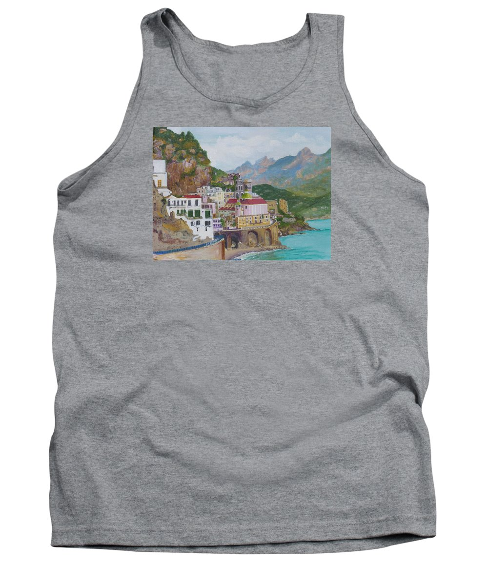 Italian Mountains Tank Top featuring the painting Sorrento by Barbara Ebeling