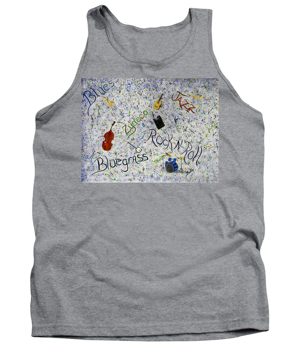 Sounds Tank Top featuring the painting Sounds Of The South by Bertie Edwards