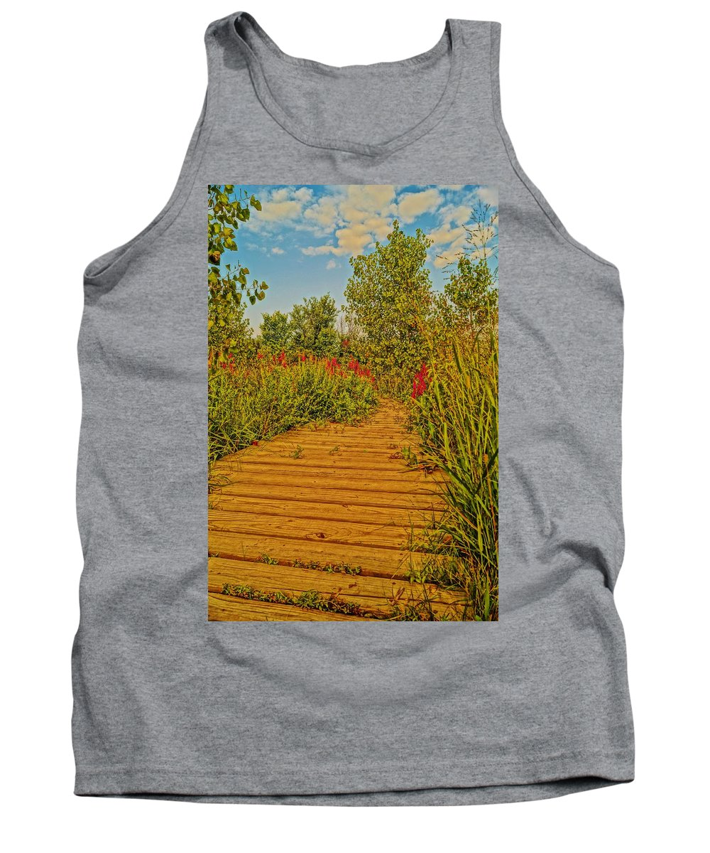 Tank Top featuring the photograph Southgate Boardwalk Retro by Daniel Thompson