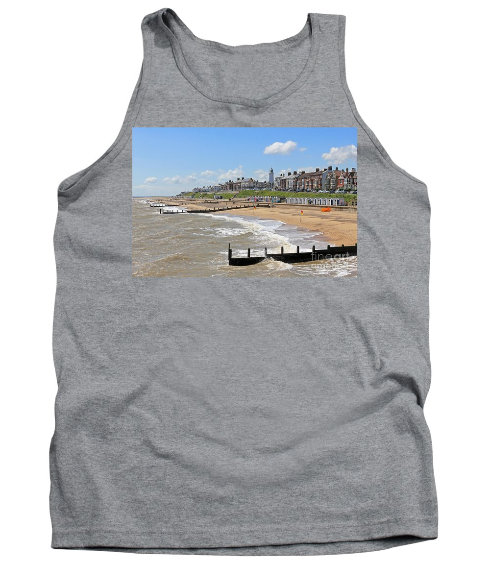 Tank Top featuring the photograph Southwold Beach 2 by Julia Gavin