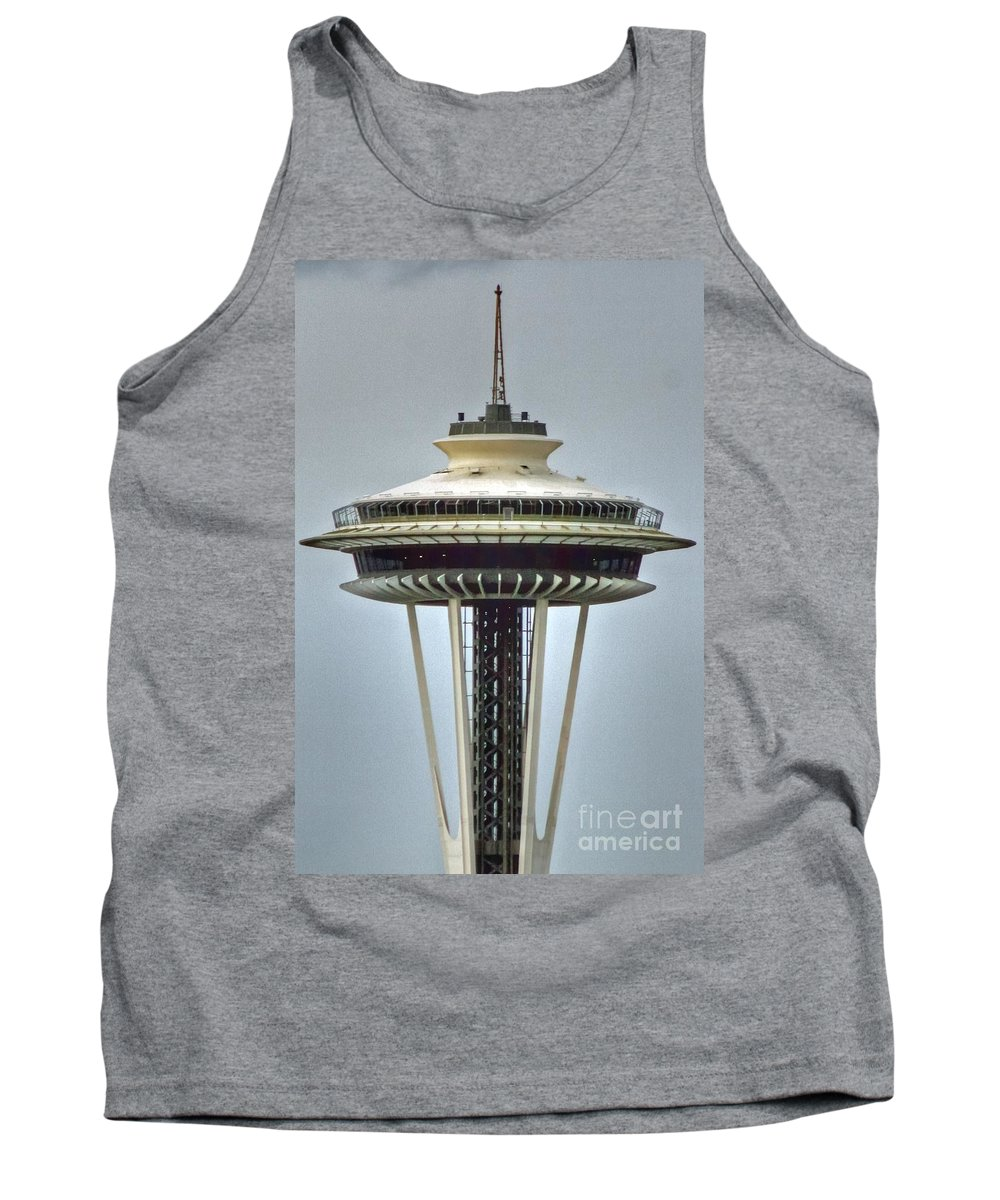 Seattle Tank Top featuring the photograph Space Needle Tower Seattle Washington by Tap On Photo