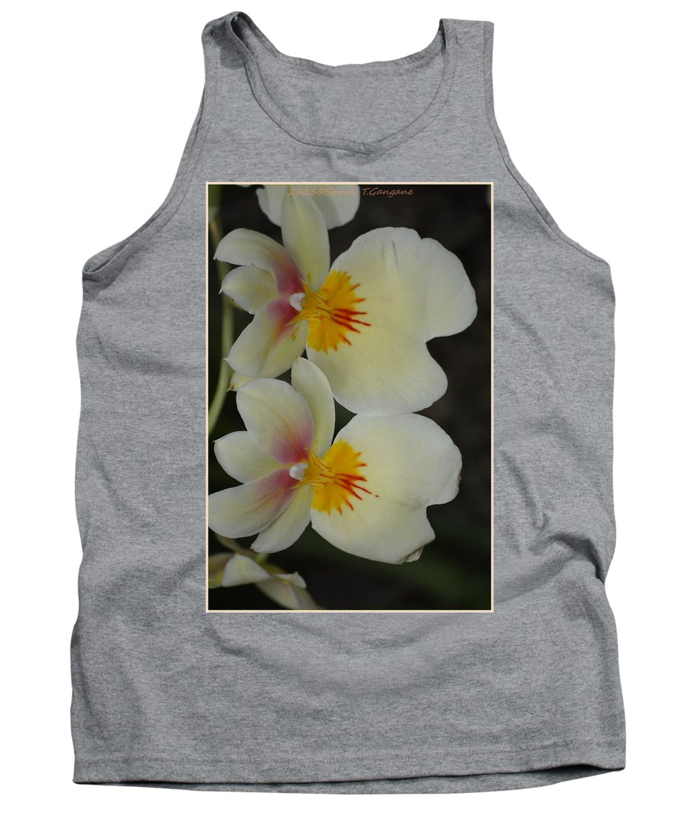 Orchis Floral Tank Top featuring the photograph Speechless Beauty by Sonali Gangane