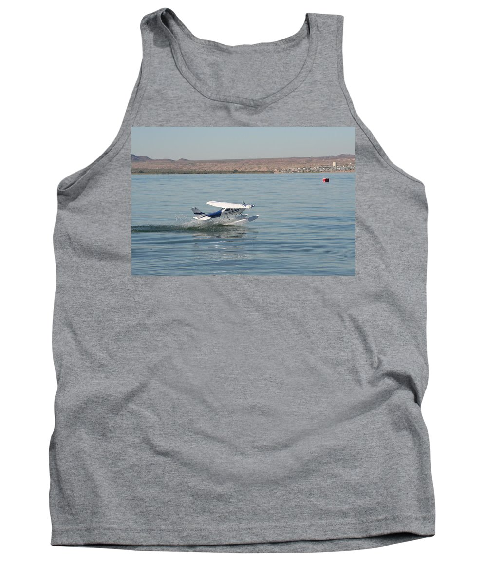 Airplane Tank Top featuring the photograph Splashdown by David S Reynolds
