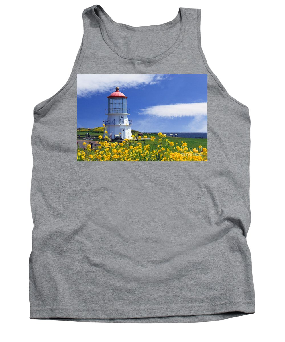 Lighthouse Tank Top featuring the photograph Springtime Lighthouse by James Eddy