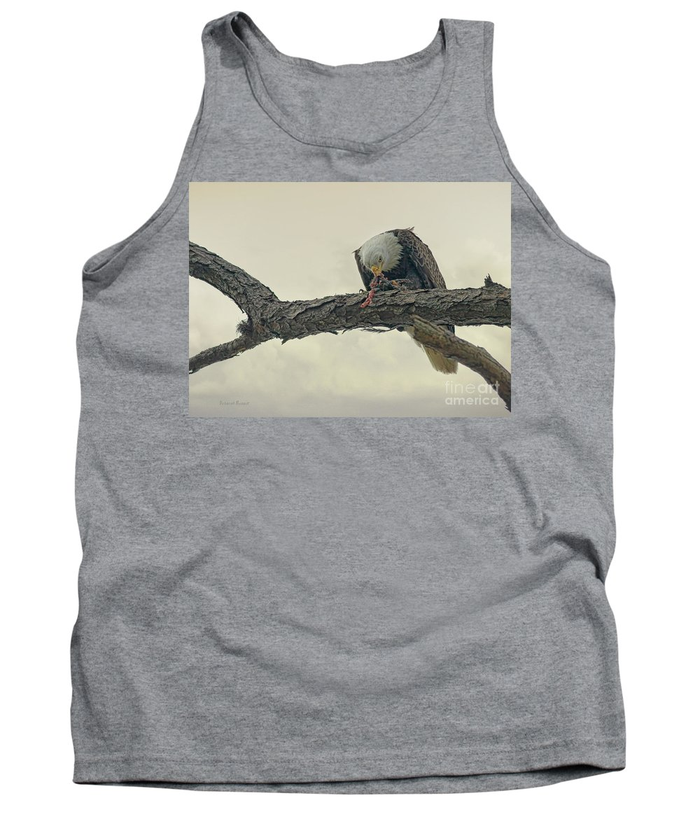 Eagle Tank Top featuring the photograph Squirrel Lunch by Deborah Benoit