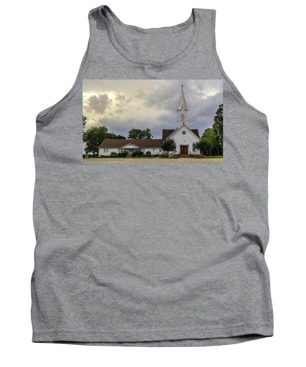 St John Lutheran Church Of Prairie Hill Tank Top featuring the photograph St John Lutheran Church Of Prairie Hill by David Morefield