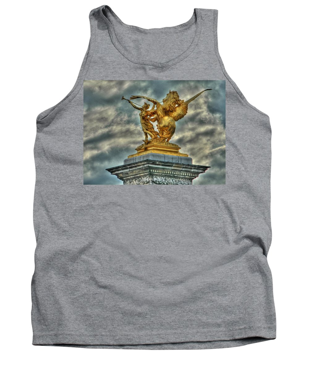 Paris Tank Top featuring the photograph Statue On Pont Alexandre IIi by Michael Kirk